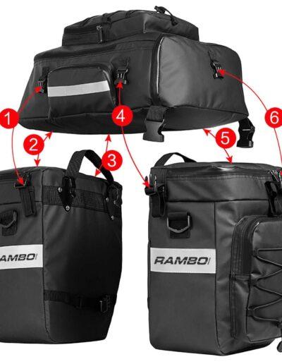 Rambo Bikes Triple Accessory Bag