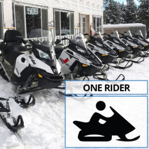 Single Rider Snowmobile Rental