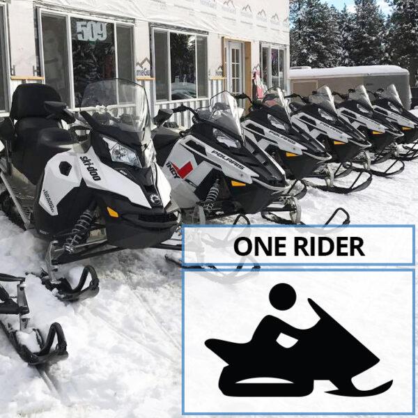 Single Rider Snowmobile Rental