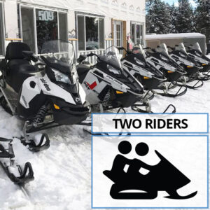 Double Rider Snowmobile Rental